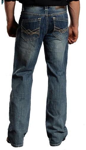 Rock & Roll Cowboy Men's Cannon Light Wash Jeans -  Boot Cut , Blue, hi-res