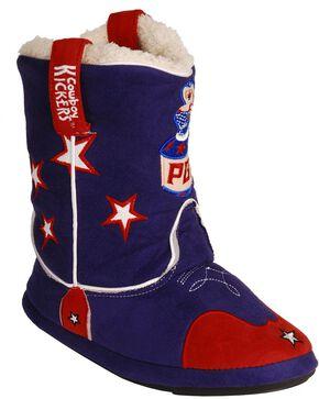Montana Silversmiths Women's PBR Cowboy Kickers - Med, Blue, hi-res