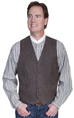 Scully Lambskin Leather Western Vest - Big & Tall, , hi-res