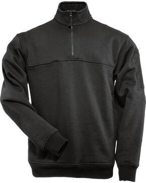 5.11 Tactical Quarter Zip Job Shirt - 3XL, Black, hi-res