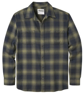 Mountain Khakis Men's Saloon Olive Flannel Shirt, Olive, hi-res