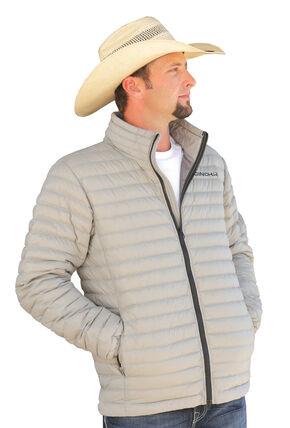 Cinch Grey Logo Lightweight Down Fill Jacket, Grey, hi-res