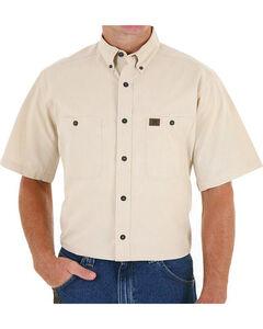 Wrangler Men's Natural Riggs Workwear Chambray Work Shirt - Tall , , hi-res