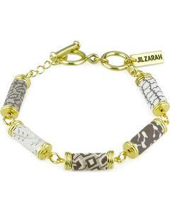 Jilzarah Latte Tube Bead Gold Bracelet, , hi-res
