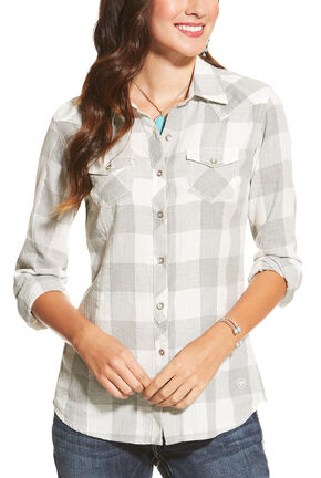 Ariat Women's Heather Grey Ann Button Shirt, Hthr Grey, hi-res