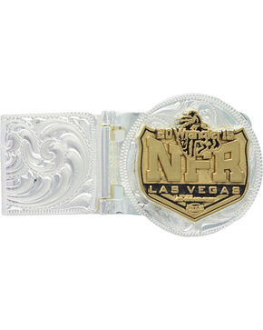 Montana Silversmiths 2015 WNFR Hinged Money Clip, Silver, hi-res