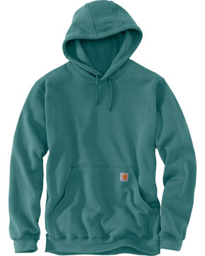 Carhartt Midweight Hooded Pullover Sweatshirt, Teal, hi-res