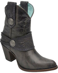 Corral Women's Buckle and Harness Ankle Boots - Medium Toe , , hi-res