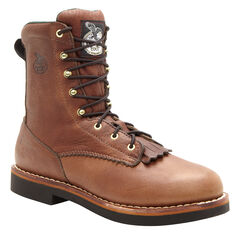 Georgia Farm and Ranch Lacer Work Boots - Round Toe, , hi-res