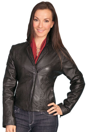 Scully Whip Stitch Lamb Jacket, Black, hi-res