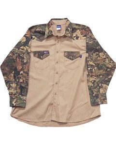 Lapco Men's Long Sleeve Flame Resistant Work Shirt - Big, , hi-res