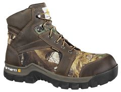 """Carhartt Waterproof Camo 6"""" Lace-Up Work Boots - Composition Toe, , hi-res"""