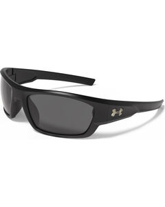 Under Armour Men's Shiny Black Force Sunglasses , , hi-res