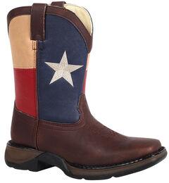 Durango Boys' Texas Flag Western Boots - Square toe, , hi-res