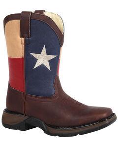 Durango Youth Boys' Texas Flag Western Boots - Square Toe, , hi-res