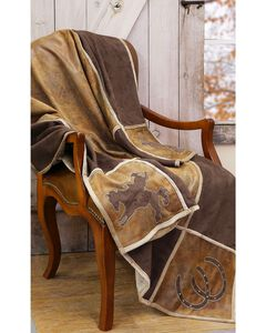 Carstens Western Grid Throw Blanket, , hi-res