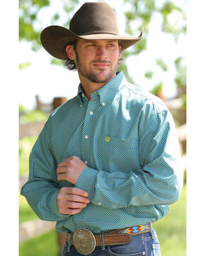 Cinch Men's Multi Button Down Long Sleeve Shirt , Multi, hi-res