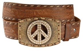Ariat City Girl Belt, Antique Tan, hi-res