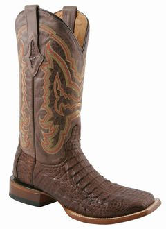 Lucchese Handcrafted 1883 Hornback Caiman Cowboy Boots - Square Toe, , hi-res