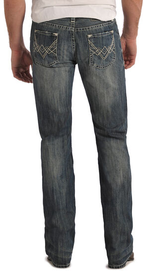 Rock and Roll Cowboy Pistol Regular Fit Jeans - Straight Leg , Med Wash, hi-res