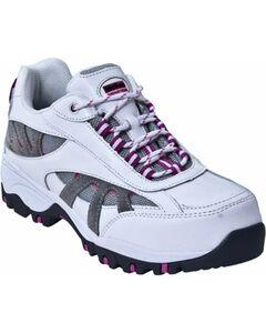 McRae Industrial Women's White Athletic Lace-Up Work Shoes - Composite Toe , , hi-res