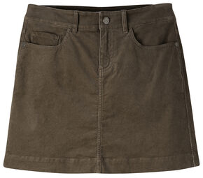 Mountain Khakis Women's Canyon Cord Slim Fit Skirt, Dark Brown, hi-res