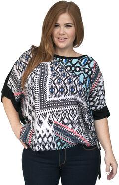 Lawman Women's Printed Chiffon Tunic - Plus Size, , hi-res