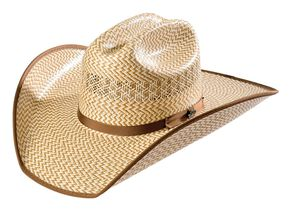Justin Bent Rail Custer Straw Cowboy Hat, Natural, hi-res