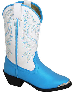 Smoky Mountain Toddler Girls' Lily Western Boots - Medium Toe , Blue, hi-res
