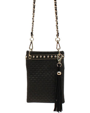 Blazin Roxx Basketweave Crossbody Bag, Black, hi-res
