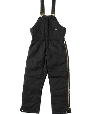 Dickies Duck Insulated Bib Overalls, Black, hi-res