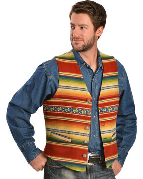 Pendleton Casa Grande Constructed Striped Vest, Red, hi-res
