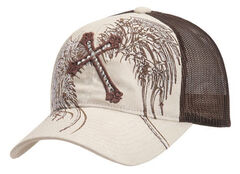 Cross & Wing Embroidered Mesh Cap, , hi-res