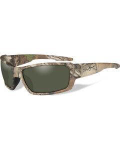 Wiley X Rebel Polarized Green Realtree Xtra Camo Sunglasses , , hi-res
