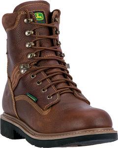 """John Deere Men's Waterproof 8"""" Lace Up Boots - Steel Toe , , hi-res"""