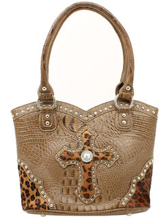 Blazin Roxx Leopard Print Cross Bucket Bag, , hi-res