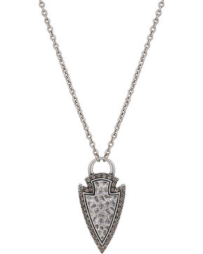 Wrangler Rock 47 Tribal Flair Arrowhead Necklace, Antique Silver, hi-res