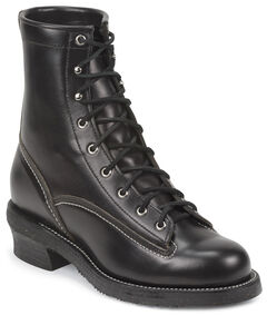 Chippewa Men's 1935 Original Black Mountaineer Logger Boots - Round Toe, , hi-res