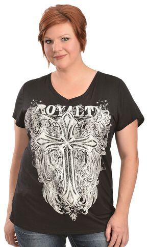 Red Ranch Royalty Top - Plus, Black, hi-res