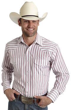 Roper Men's Red Striped Western Shirt, , hi-res