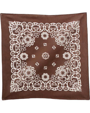 M & F Western Brown Paisley Print Bandana , No Color, hi-res