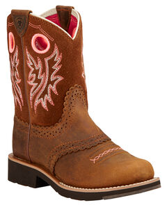 Ariat Children's Fatbaby Cowgirl Boots - Round Toe , , hi-res