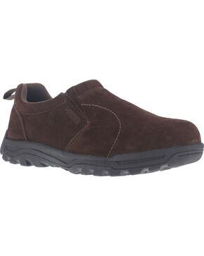 Rockport Men's Nice Ride Slip-On Shoes - Steel Toe , Brown, hi-res