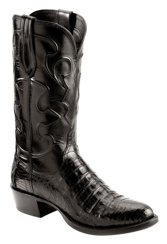 Lucchese Handcrafted 1883 Black Crocodile Belly Cowboy