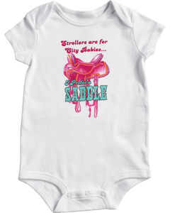 Shyanne Infant Girls' Saddle Onesie, , hi-res