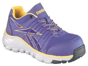 Reebok Women's Arion Athletic Oxford Shoes - Composition Toe, Purple, hi-res