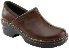 Eastland Women's Brown Kelsey Slip On Clogs , , hi-res