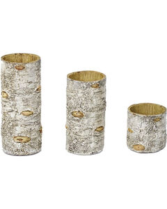 HiEnd Accents Birch Candle Holders - Set of 3, , hi-res