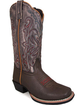 Smoky Mountain Women's Fusion #2 Western Boots - Square Toe , Brown, hi-res