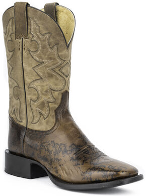 "Stetson Hank 11"" Cowboy Boots - Square Toe, Brown, hi-res"